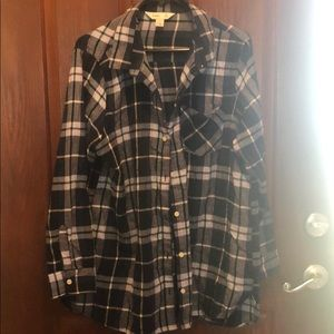 OLD NAVY - Tunic Flannel Shirt